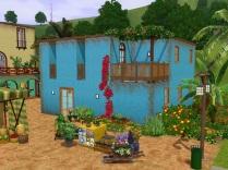 Marktplatz mit bauem Haus